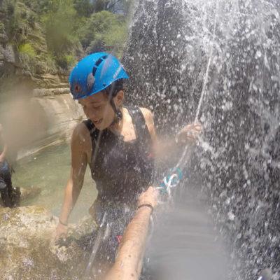 canyoning στο Ζαγόρι