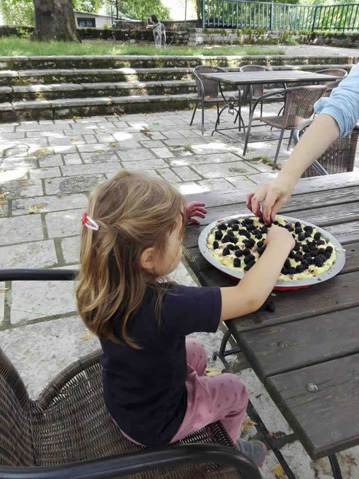 Παρασκευή τάρτας βατόμουρου   Ξενώνας Εν Χωρα Βεζίτσα, Βίτσα, Ζαγοροχώρια